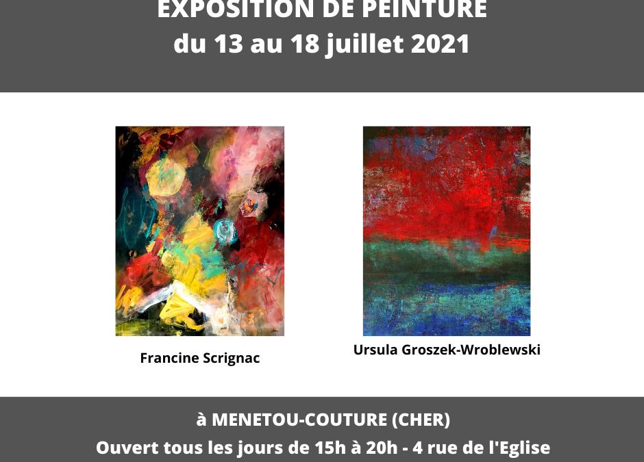 Exposition du 13 au 18 juillet à Menetou-Coutre