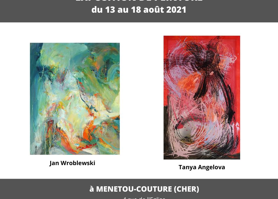 ART TM expose Tanya Angelova et Jan Wroblewski du 13 au 18 août